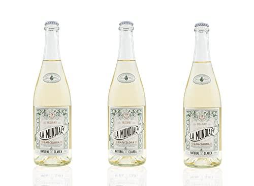 Vins&Co Barcelona La Mundial Clarea Natural Pack de 3 - D.O. Penedés - Vino Blanco Frizzante espumoso - Macabeo y Parellada - 7% alcohol – Selección Vins&Co