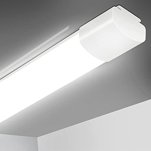 Feuchtraumleuchte LED Deckenleuchte 60CM, 20W 2000Lm Flimmerfrei LED Lampe, IP66 Wasserdichte LED Deckenlampe Für Garage, Werkstatt, Keller, Carport, Lager, Garten, 4000K