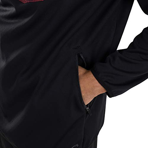 Canterbury Men's England Thermoreg Quarter Zip Top, Black, S
