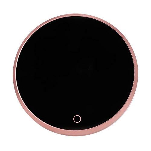 Calentador de taza de café, almohadilla portátil de calentamiento de termostato táctil portátil a prueba de agua con apagado automático para uso doméstico en la oficina (hasta 131 ℉/55 ℃) (UE)