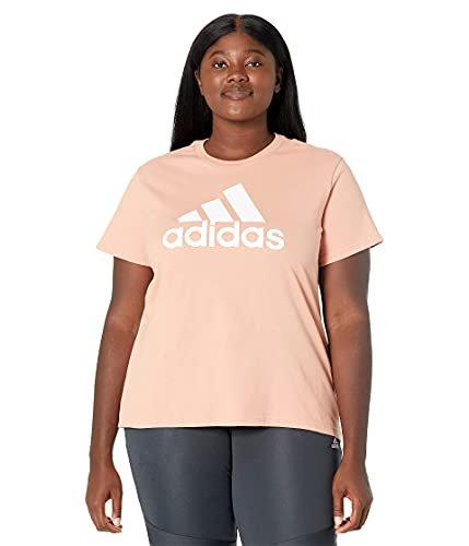 adidas Women's Standard Badge of Sport Classic Tee, Ambient Blush, X-Large