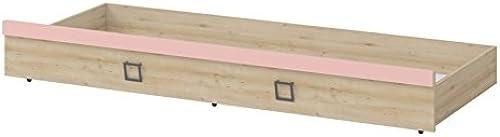 Bettkasten für Bett Benjamin, Farbe  Buche   Rosa - 80 x 190 cm (B x L)