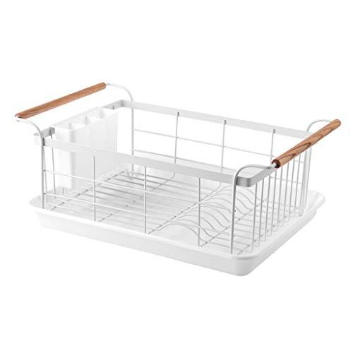 Desagüe de la Cocina Multifuncional Cesta Estante del hogar Platos Platos Drenan los Palillos de Rack Rack de Almacenamiento (Color : White)