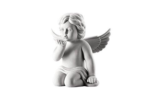 Rosenthal - Engel Handkuß - groß - Weiss matt - Porzellan - Höhe 14 cm