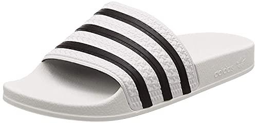 adidas Adilette, Chanclas Unisex Adulto, Blanco (White/Black/White), 42 EU