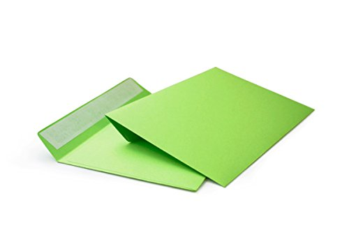 hochwertige Briefumschläge C6 114x162 mm (grün) 120 g/m² ohne Fenster haftklebend (508A) (100)