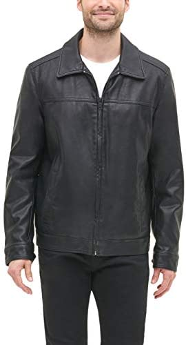 Tommy Hilfiger Men s Classic Faux Leather Laydown Collar Jacket Black Unfilled X Large product image