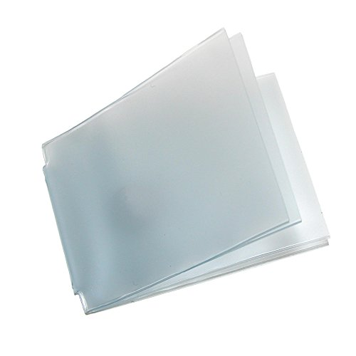Buxton Vinyl Window Inserts for Billfold Wallets with Wing Bar (Pack of 2), Clear