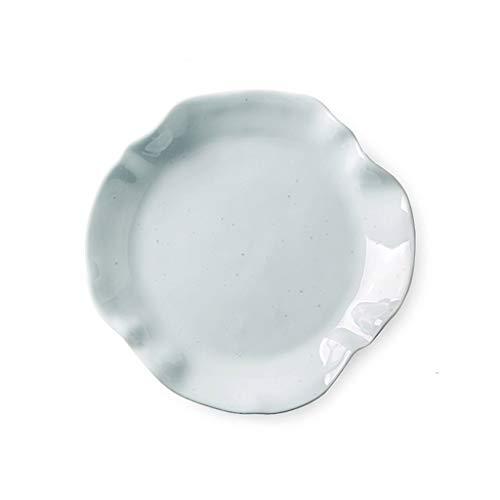 TXC- Keramisch tafelgerei plaat schotel plaat Startpagina Creative Net Rode fruitschaal Westelijk Voedsel Plate Dumpling Plate Duurzaam (Color : Light green, Size : 15.3cm*15.3cm)
