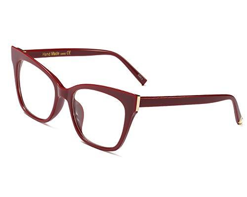 YOFASEN Übergroße Damenbrille, Verhindert Müdigkeit Und Kopfschmerzen, Blendfreie Herrenbrille, Geeignet Für Den Außenbereich,Rotwein
