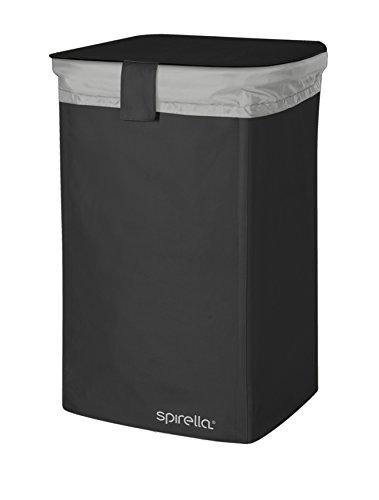 Spirella wasmand Classic L met uitneembare waszak - 50 liter - zwart