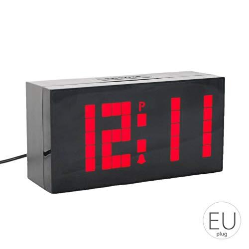 Yangge Yujum Gran Pantalla de la Pared del LED Digital Desk Relojes de Alarma Temporizador de Cuenta atrás con luz Nocturna Temperatura del Calendario para el Dormitorio