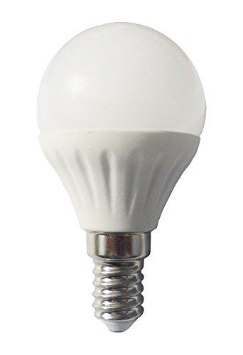 Agfri Bombilla LED Esférica E14, 3 W, Blanco, 45 x 8 mm