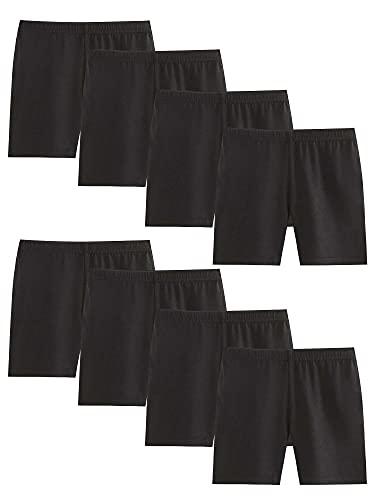 Adorel Mädchen Unterhosen Unter Rock Pantys 8er-Pack Schwarz 122-128 EU (Herstellergröße 130)
