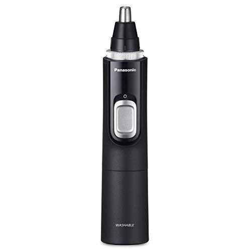 Price comparison product image Panasonic Mens Ear and Nose Hair Trimmer with Vacuum Cleaning System Wet Dry Hypoallergenic High-Performance Dual Edge Blade - ER-GN70-K (Black)