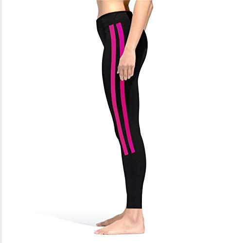 GoVIA Leggins para Damas Pantalones Deportivos Largos para Training Running Yoga Fitness Transpirables con Cintura Alta 4138 Rosa S/M