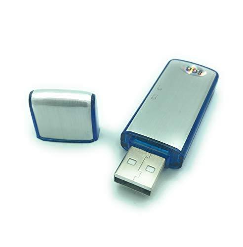 Pendrive mini grabador de voz 8GB en memoria USB. Grabadora de audio con micrófono espía de larga duración - Voice Recorder USB - 2 en 1
