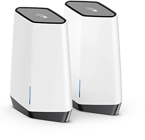 Netgear Orbi Pro SXK80 - Sistema Mesh WiFi 6 AX6000 Tribanda (1 Router y 1 satélite) con Cobertura de 400 m2 y 256 Dispositivos