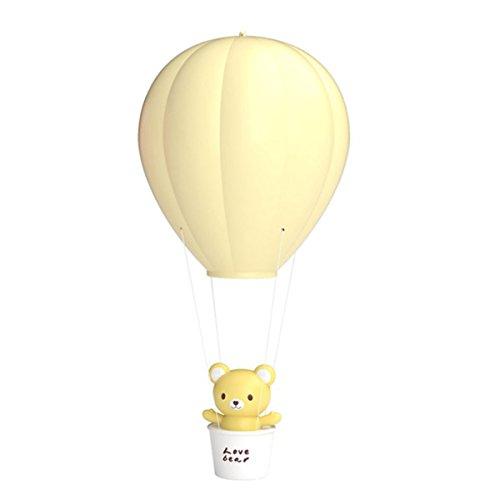 LEDMOMO Kinder Dimmbare Heißluftballon LED Nachtlicht, LEDMOMO Touch Control Kinder Baby Kinderzimmer Lampe USB wiederaufladbare Wandleuchte für Kinder Schlafzimmer (gelb)