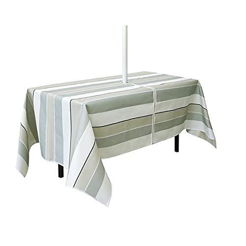 CJFael Mantel de mesa de fiesta, cubierta de mesa con cremallera, resistente a las arrugas, poliéster, resistente al agua, para el hogar, fiesta, boda, restaurante, cafetería, 2 m