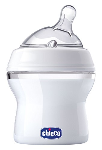 Chicco NaturalFit Baby Bottle Slow Flow with Bonus Straight Nipple, 0 Months+, 5 Ounce