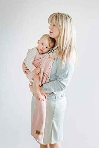 Shabany® – Ring Sling Tragetuch – 100% Bio Baumwolle – Für Neugeborene Kleinkinder bis 15 KG – inkl. Baby Wrap Carrier Anleitung – rosa (cuddles) - 2