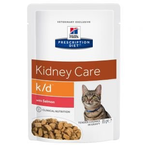 Hill's Prescription Diet Feline k/d mit Lachs 24 x 85g (Doppelpack)