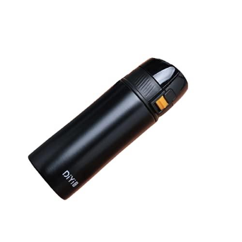 Songmei 380ml Botella de Agua acero Inoxidable Frasco de Agua de Metal Reutilizable Aislado Diseño a Prueba de Fuga Termo liquido con Fuga de té para Viajes de Gimnasio de Trabajo