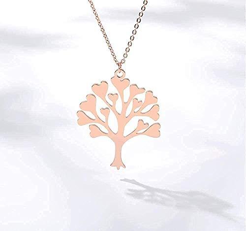 LKLFC Collar para Mujer Hombre árbol de la Vida Colgante Collar joyería de Compromiso Collar Colgante Regalo para Mujeres Hombres niñas niños