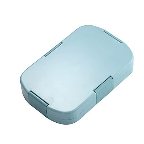 MJJCY 920ml Material Saludable Caja de Almuerzo 6 Gridos Bento Cajas Microondas Servicio de vajilla para niños Portátil Alimentación Alimentación Almacenamiento Almuerzo Caja de Almuerzo