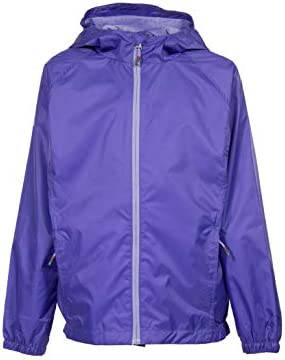 Swiss Alps Toddler Young Girls Wind Resistant Lightweight Rain Jacket Purple Iris 4 product image