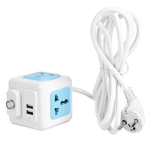 Enchufe USB Enchufe de la UE 250V Multifunción 4 salidas Toma de corriente USB doble Toma de corriente de tira de hotel en el hogar
