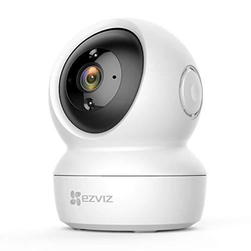 EZVIZ 1080P WLAN IP Kamera mit Zwei-Wege-Audio, Innen schwenkbare Überwachungskamera mit Bewegungserkennung, IR Nachtsicht für Haustier Baby, Pan & Tilt Babyphone kompatibel mit Ialexa, C6N