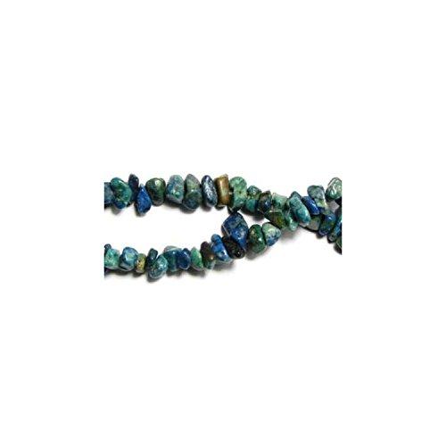 Fil de chips perles en Azurite chrysocolle - collier de 42cm