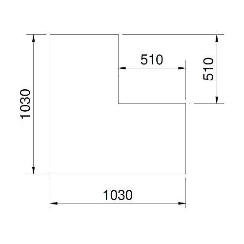 CERA Design Glasvorlegeplatte, 1030 x 1030 mm, Kaminofen Santos Eck