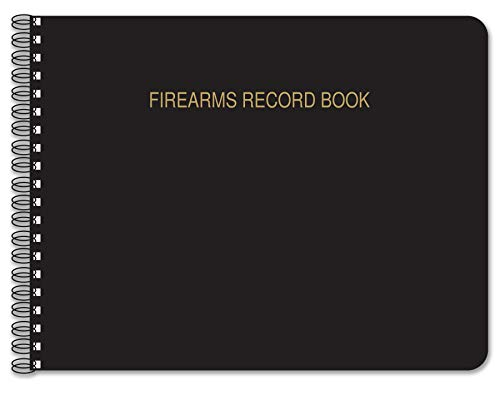 BookFactory Firearms Record Book/Gun Log Book - 100 Pages, Black TransLux Cover - Wire-O, 11