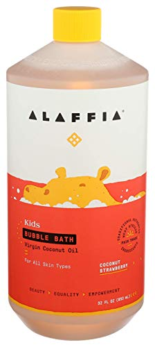 Product Image of the Alaffia Kids Coconut Strawberry Bubble Bath, 32 OZ. Gentle and Calming for...
