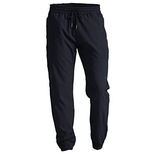 kdjsic Pantalon de Jogging Solide athlétique pour Homme, Gymnase de Sport Extensible à séchage Rapide avec Cordon de Serrage à la Taille avec Poches à glissière