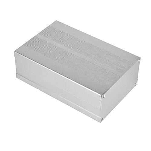 Proyecto Electrónico Caso Aleación de Aluminio Placa de Circuito Impreso Cableado Decodificador Caja Aluminio Concha Arena Plata, 55x106x160 mm