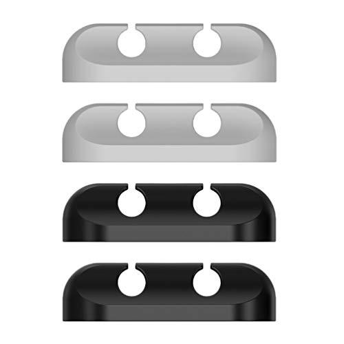 UKCOCO 4 Piezas de Clips de Cable de Alambre Clips de Cable Adhesivo Mini Cable de Silicona Organizadores de Pared de Escritorio de Gestión de Cables de Carga USB Cable de