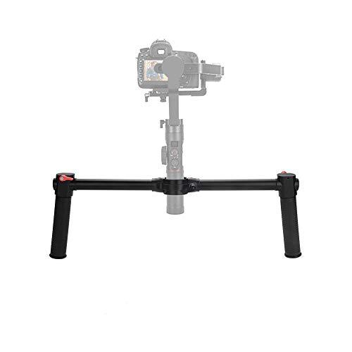 Elerose Agarre de aleación de Aluminio Duradero Gimbal Stabilizer Dual Handheld Grip para Zhiyun Crane 2