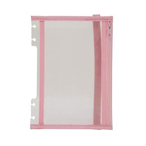 WEIHEEE Portable Notebook Aufbewahrungstasche Atmungsaktives Netz Kosmetischer Faltbarer Aufbewahrungsbehälter für Bleistift Büro Aufbewahrungszubehör,Rosa
