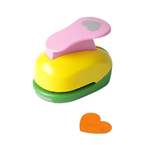 Heart Punch 1.5 inch Craft Lever Punch Handmade Paper Punch for Crafting Scrapbooking,DIY Card Making Candy Colour by Random 1.5 inch Heart