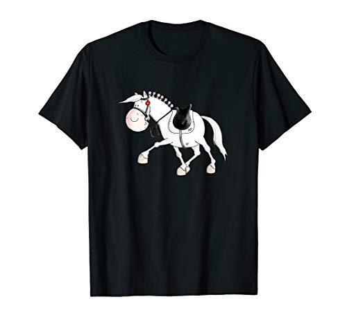 Happy Dressurpferd I Comic Pferd I Pferde Turnier I Reiter T-Shirt