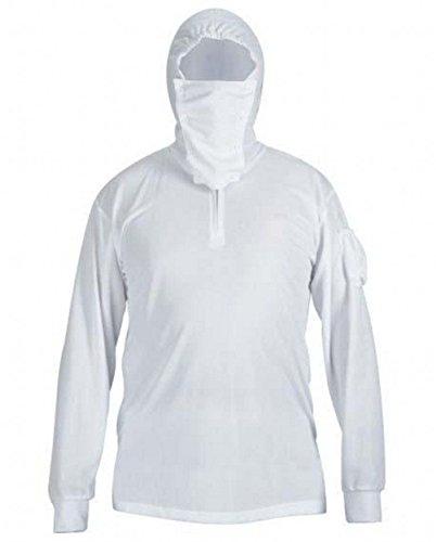 ESEL Camisas de pesca de manga larga con capucha para hombre, secado rápido Plus M
