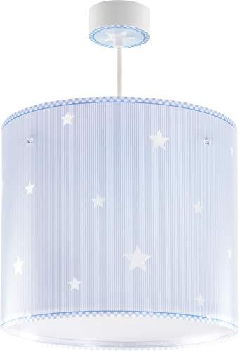 Dalber Lámpara Infantil de Techo Colgante Estrellas, Azul