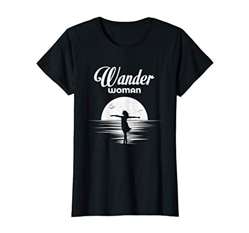 Damen Wandern Wanderin Naturfreund Berge Natur Hiking Vintage T-Shirt