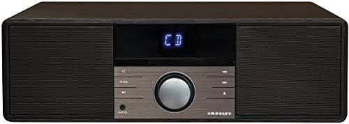 Crosley CR3502A-BK Metro Bluetooth FM Clock Radio and CD Player, Black