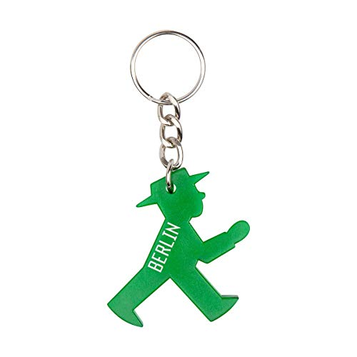 AMPELMANN Schlüsselmann - Schlüsselanhänger mit Berlin Gravur aus Plastik (Grün)