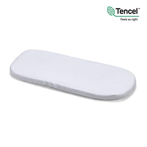 Protector Impermeable Pirulos S/ábana Bajera Protectora Impermeable para Cochecito de Beb/é de 40x80 cm//S/ábana Bajera Ajustable Color Blanco